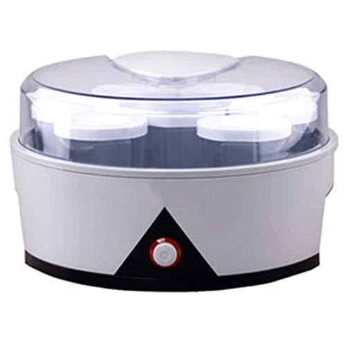 SMEJS Jydqj. Máquina con 7 recipientes de cristal para yogures – Eléctrico automático fácil Yogurt Maker Machine