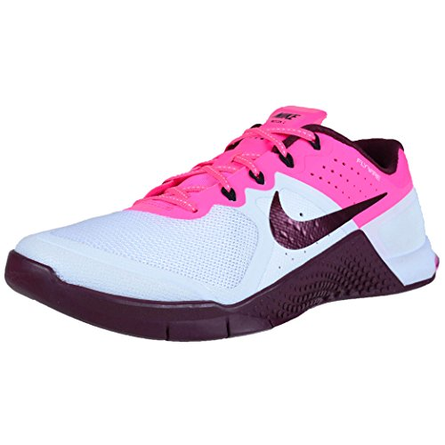 Nike Womens Metcon 2 White/Nght Maroon Pnk Blst Blk Training...