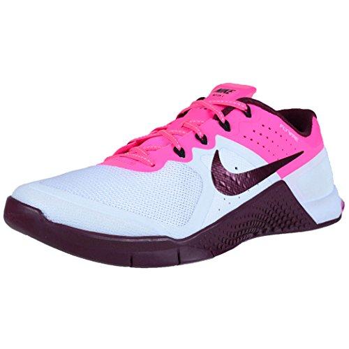 Nike Womens Wmns Metcon 2, White/Night Maroon-Pink...
