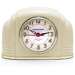 Timelink Crosley Deco Bakelite Arch Ivory Alarm Clock