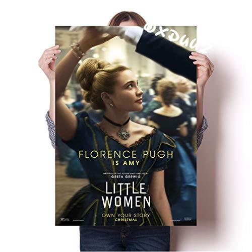 xmydeshoop American Love Movie Little Women Photo Propaganda Poster Family Wall Art Deco Painting Poster Protagonistas Silsa Ronan 50X70Cm (Xmy-1586)