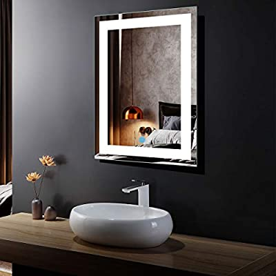 Horizontal and Vertical LED Bathroom Silvered Mirror with Touch Button (C-CK010)
