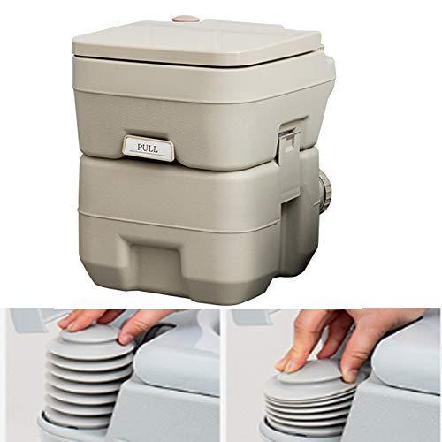 Pratico Comodo WC da Campeggio Portatile WC da Campeggio 440 libbre con Serbatoi Staccabili da 2,6/5 galloni per WC da Viaggio all'aperto a Filo Facile da Usare