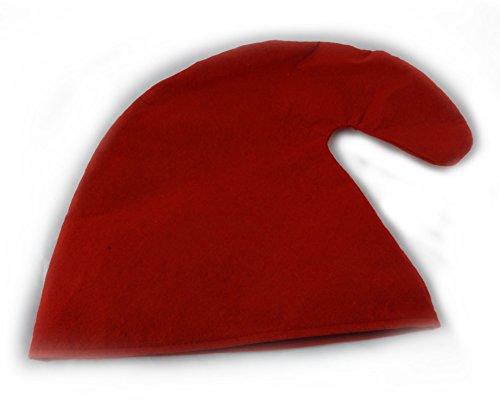Zwergenmütze in rot für Erwachsene - Zwergen Hut Mütze Zwergenkostüm