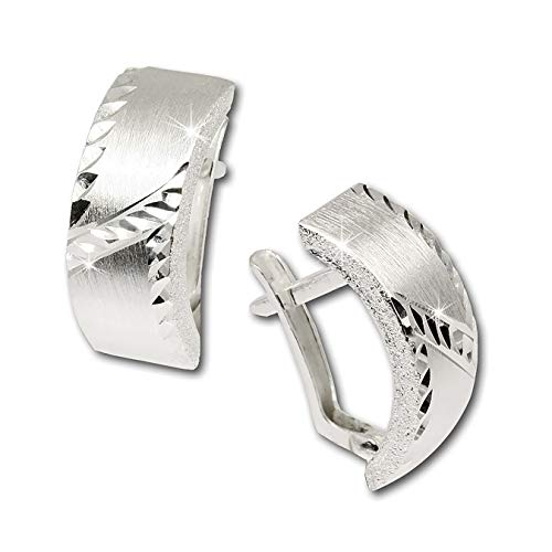 SilberDream Ohrringe Damen-Schmuck 925er Silber Ohrstecker gewölbt SDO316