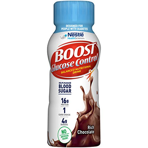 Boost Glucose Control Nutritional Drink, Rich Chocolate , 8 Fl Oz (Pack of 24) (Packaging May Vary)