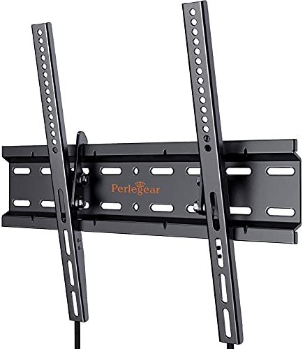 Perlegear Soporte de TV - Soporte de TV en Pared inclinable para televisores de 26 a 55 Pulgadas con Carga de 52 kg, VESA Máx. de 400 x 400 mm