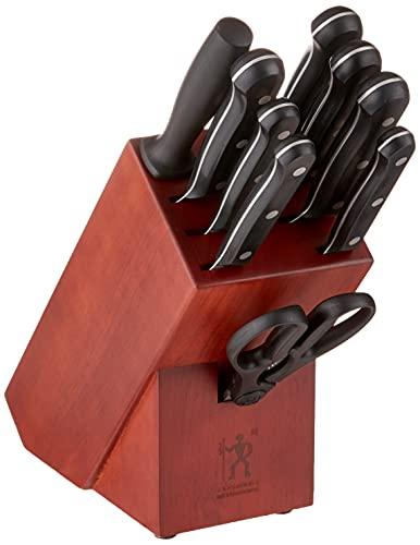 HENCKELS Solution Knife Block Set, 10-pc, Black/Stainless Steel