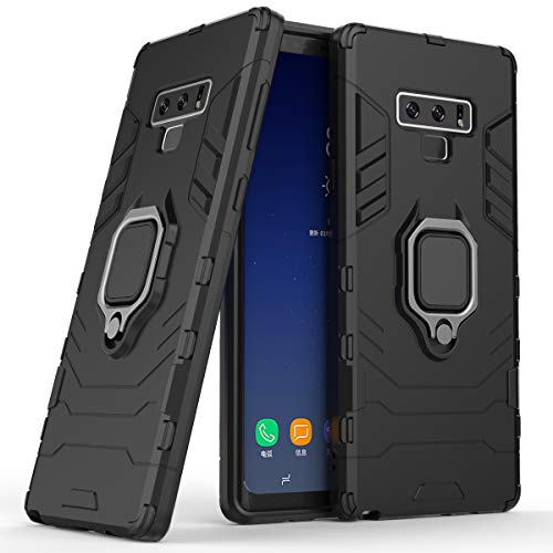 Cocomii Black Panther Ring Galaxy Note 9 Case, Slim Thin Matte Vertical & Horizontal Kickstand Ring Grip Reinforced Drop Protection Bumper Cover Compatible with Samsung Galaxy Note 9 (Jet Black)