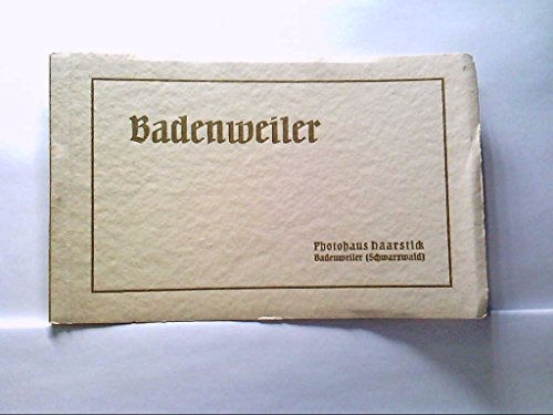AK Badenweiler im Schwarzwald, Postkarten Buch mit 9 Karten, Verschiedene Ansichten.