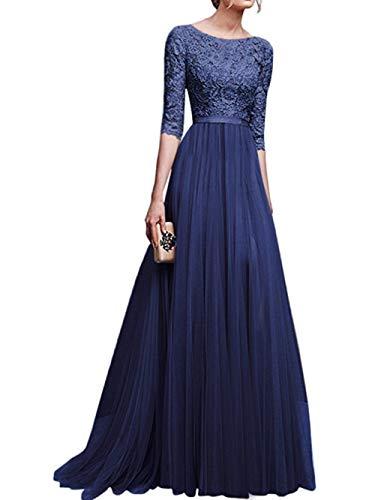 HANGMANGONGLU vrouwen Synthetische Maxi Tuxedo jurk Wrap Mini