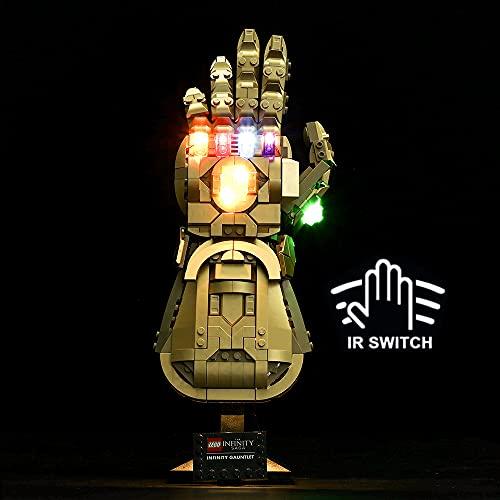 HYCH LED Licht-Set für Lego Marvel Super Heroes Infinity Handschuh Beleuchtung Lichtset Kompatibel Mit Lego 76191 Infinity Handschuh (Lego-Modell Nicht enthalten) (Upgrade Version)