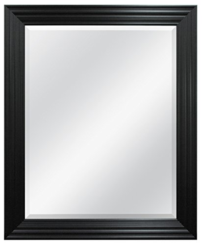 MCS Ridged Wall Mirror, 28 by 34-Inch, Brushed -