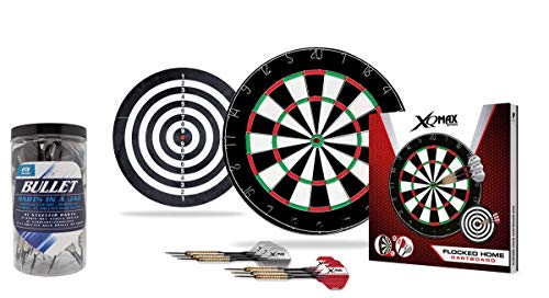 Bullet Dart Set - Flocked Home Dartboard - 27 Steeldarts