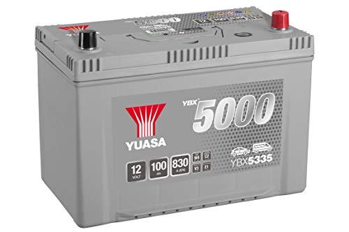 Yuasa YBX5335 Batterie de démarrage haute performance – Argent