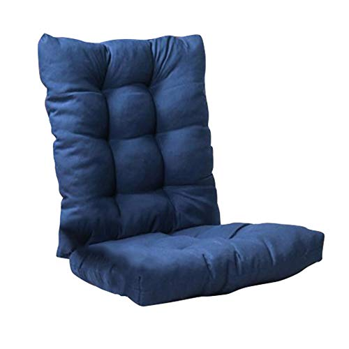 Meltset Comfort Non-Slip Rocking Chair Cushion Set, 20' Thickened Indoor Outdoor Wicker Chair Pad, Soft Lounge Chair Cushion for Office Garden Patio Home - Navy