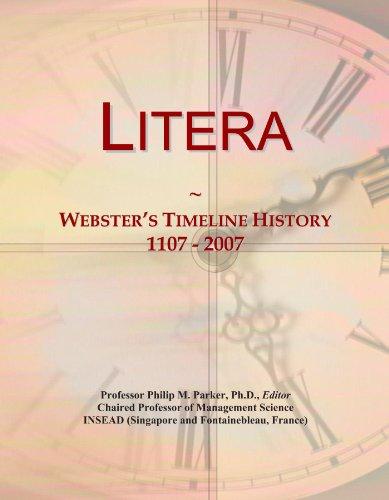 Litera: Webster's Timeline History, 1107 - 2007