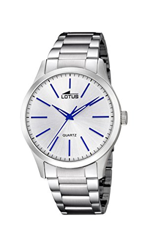 Lotus Watches Reloj Análogo clásico para Hombre de Cuarzo con Correa en Acero Inoxidable 15959/6