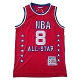 WANLN Camiseta De Baloncesto - NBA Lakers # 8 Camiseta De Baloncesto De Malla para Hombre Swingman Camiseta Sin Mangas Chaleco Deportivo Top All-Star Jersey Rojo,XXL
