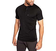 Woolly Clothing Men's Merino Wool Long Sleeve Henley Everyday Weight Wicking Breathable Anti Odor