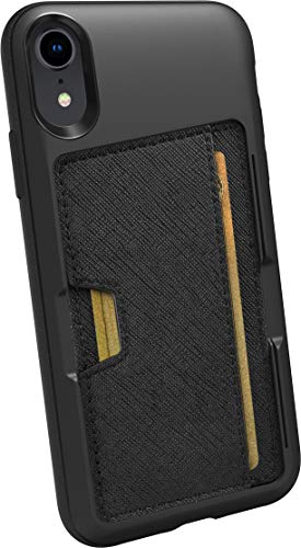 Smartish iPhone XR Wallet Case - Wallet Slayer Vol. 2 [Slim Protective Kickstand] Credit Card Holder for Apple iPhone 10R (Silk) - Black Tie Affair