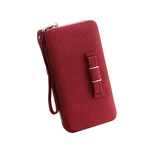 professionnel comparateur Portefeuille Aeeque pour dames rouge, élégant sac en PU, poche portefeuille en cuir souple… choix