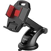 Beikell Supporto Auto Smartphone, Supporto per Telefono per Auto [360 Gradi di Rotazione] con Cruscotto Regolabile e Supporto per Braccio Estensibile per Auto Forte Rilievo in Gel Appiccicoso-Rosso