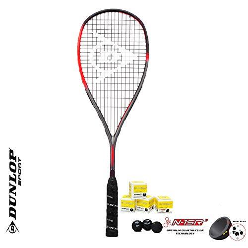 DUNLOP Hyperfibre XT Revelation - Raqueta de squash y squash Balls Series (varias raquetas a elegir) (Revelation Pro)