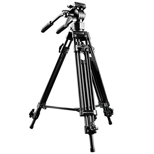 Walimex Pro EI-9901 video-Pro-statief (max. Hoogte 138 cm, videoneiger, middenspin, belastbaarheid 6 kg en statieftas).