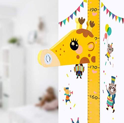 Xinyanmy 3D Musical Giraffe Kinder Messlatte Baby Messlatte Höhe Diagramm EVA Header Baby Wachstum Diagramm Kinderzimmer Wandtattoo