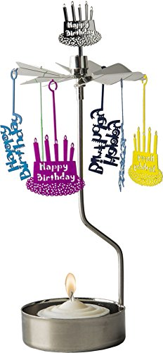 Portalumino – Luce girevole – Candela tealight – Happy Birthday colorato – Pluto Produkter – Hanna's Laden