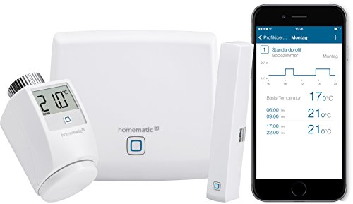 Homematic IP Smart Home Starter Set Raumklima - Intelligente Heizungssteuerung per App, 142546A0