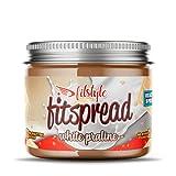 FITspread White Praliné 200g | Crema de Avellanas sabor chocolate blanco | Sin maltitol | 97% fruto seco | Sin gluten y sin aceite de palma