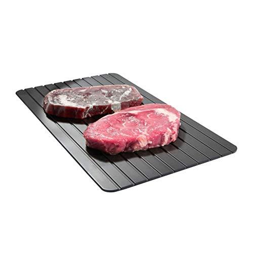 Damastoreitalia - Placa descongelante para descongelar alimentos rápidos, antiadherente, para descongelar carne, pescado, descongelación, descongelación natural, rápida no eléctrica, productos químicos y microondas