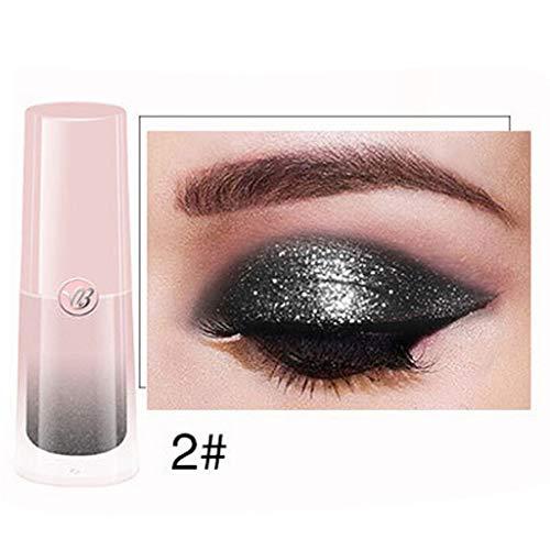 Glitter Liquid Eyeshadow Wasserdichte langanhaltende Shimmer Eyeliner Cosmetic Sparkly Lidschatten Augen Makeup Perle Metallic Glitter Lidschatten-Palette Highlighter Bleistift Augenschatten Beauty