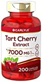 Tart Cherry Capsules | 7000 mg | 200 Pills | Max Potency | Non-GMO, Gluten Free | Tart Cherry Juice Extract | by Carlyle