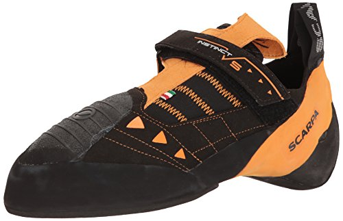 SCARPA Men's Instinct VS Climbing Shoe, Black/Orange, 15