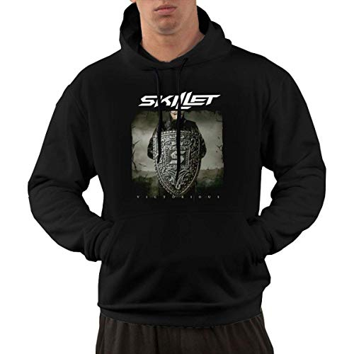 Beiläufiges langärmliges mit Kapuze Sweatshirt Skillet Band Men's Hoodies Sweater Fashion Long Sleeve Top Pocket Hooded Sweatshirts