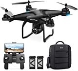 Holy Stone HS120D GPS Drone with 2K UHD Camera for Adults, FPV Quadcotper with Auto Return Home, Follow Me, Altitude Hold, Tap Fly Functions, Includes 2 Batteries and Carrying Backpack