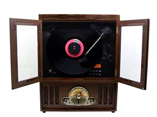 Soundmaster nr600Plattenspieler aus Holz, Holz, SD