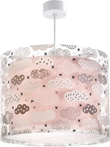 Dalber Kinder Hängelampe Clouds Wolken Rosa, Plastik, 33 x 33 x 25 cm