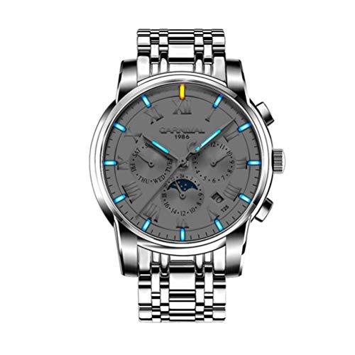 KUANDARMX Moda Reloj Mecánico Automático Reloj para Hombres T25 Relojes Luminosos De Tritio 30 Metros Vida Impermeable. Regalo, B