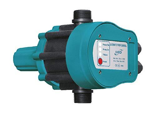 Druckschalter LEO PS-04A, elektromagnetischer Druckschalter für automatische Pumpensteuerung im Hauswasserwerk mit Rückschlagventil
