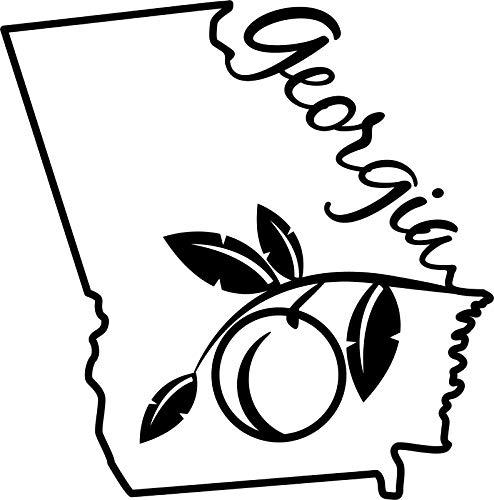 georgia peach decal - 4