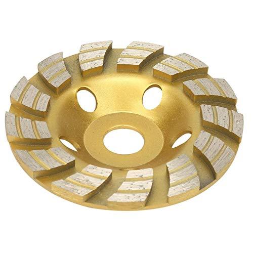 Amplia aplicación Diamond Cup Molling Wheel Rueda de molienda de la copa de diamante, disco de corte de taza de muelas de muelle del segmento de diamante de 125x22.2mm para la herramienta de corte de