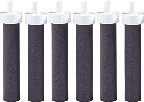 Brita Water Bottle Replacement Water Bottle Filters, Black, 6 Cou