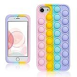 Qerrassa Color Bubble Silikon Hülle für iPhone 4/4S,Fälle Spaß Entwerfen Handyhülle Fidget für Kinder Mädchen Jungs Schutz Ultra Dünne Einzigartige Süß Komisch Mode Fälle für iPhone 4/4S
