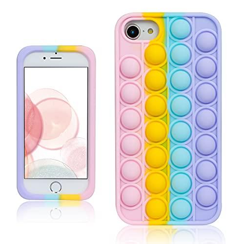 Besoar Color Bubble Fidget Case for iPhone 6/6S/7/8/SE 2020 4.7' Soft...