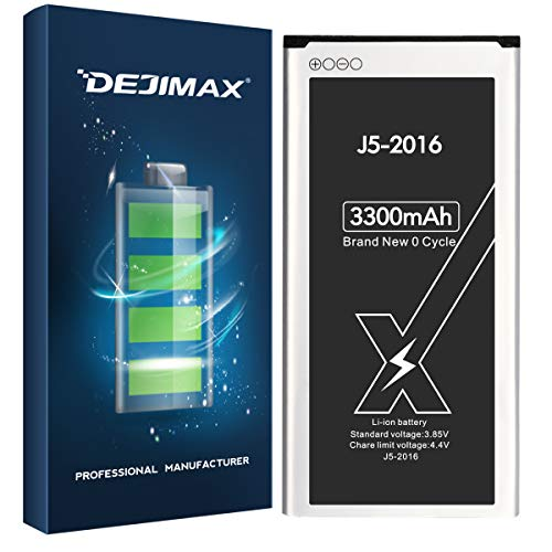 DEJIMAX 3300mah Akku für Samsung Galaxy J5 2016, 3300mAh für Galaxy J5 /SM-J510FN/EB-BJ510CBE