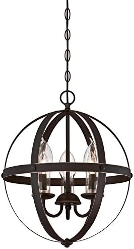 Westinghouse Lighting 6360600 Stella Mira Three Light Chandelier Oil Rubbed Bronze Finish with product image